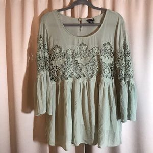 TOP.  NWOT TORRID LACE BLOUSE. SIZE 1